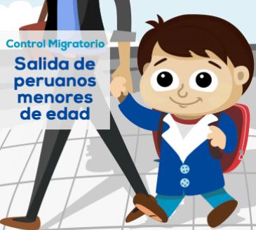 Control Migratorio de Salida de Peruanos Menores de Edad