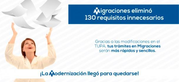 MIGRACIONES ELIMINÓ MÁS DE 130 REQUISITOS INNECESARIOS DE SUS TRÁMITES Y PROCEDIMIENTOS