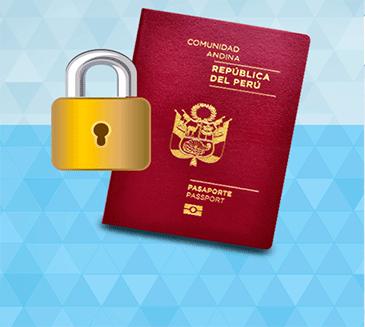 Bloqueo en línea de pasaporte electrónico en caso de robo o pérdida.