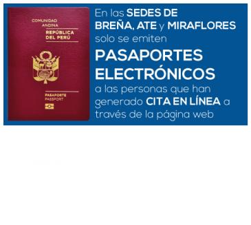 En Breña, Ate y Miraflores solo se emiten pasaportes electrónicos a las personas que han generado una CITA EN LÍNEA