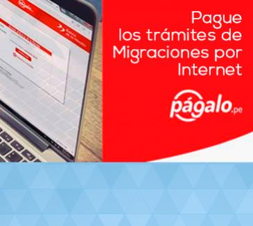 Pague los trámites de Migraciones por Internet